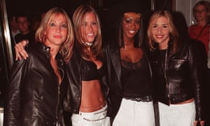 All Saints arrive at the Versace store opening party in New Bond Street in 1999 in London.