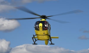 Froome was taken to hospital in an air ambulance.