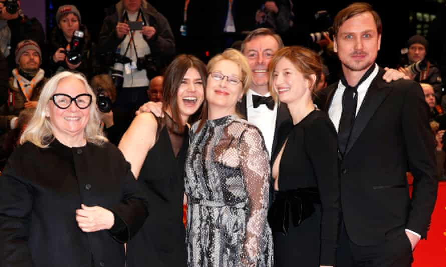 The Berlin festival jury (l-r): Brigitte Lacombe, Malgorzata Szumowska, Meryl Streep, Nick James, Alba Rohrwacher and Lars Eidinger on the red carpet in Berlin last week.