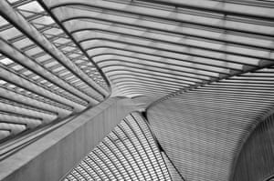 The ceiling of Liège-Guillemins station in Belgium by Santiago Calatrava