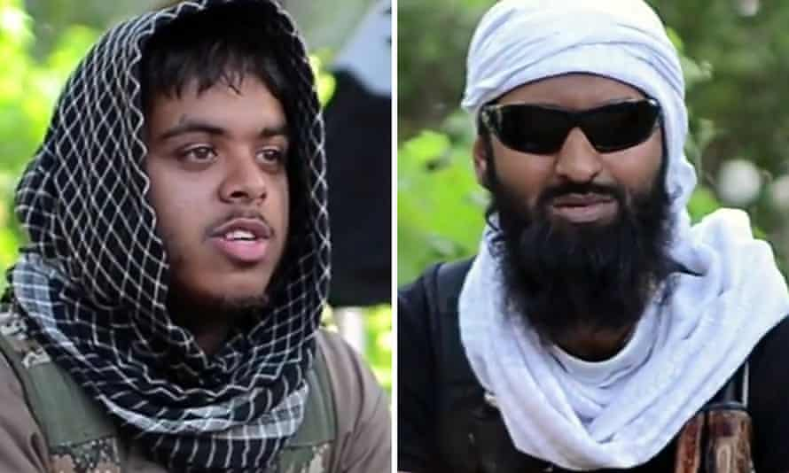 Reyaad Khan (left) and Ruhul Amin were killed in an RAF drone attack in Syria.