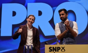 Mhairi Black and Humza Yousaf at the SNP conference.