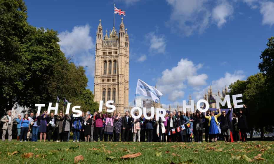 EU citizens in London lobbying MPs to guarantee their post-Brexit rights.