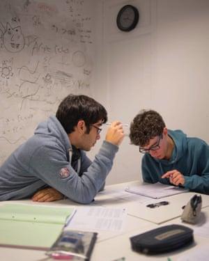 Boys in maths class