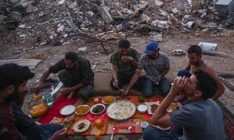 Ramadan on the Syrian frontline – in pictures