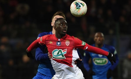 Jean-Kevin Augustin during his spell on loan at Monaco earlier this season.