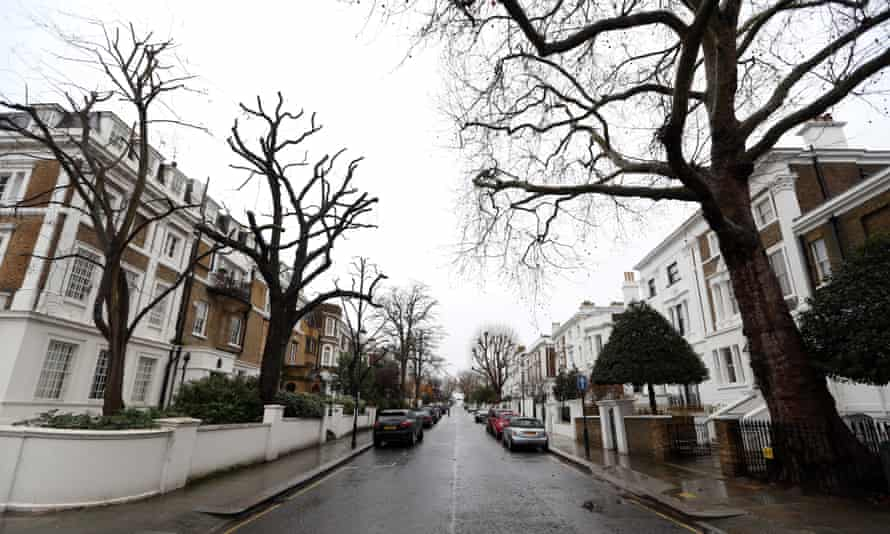 Lansdowne Road in Kensington and Chelsea, one of London's most expensive boroughs.