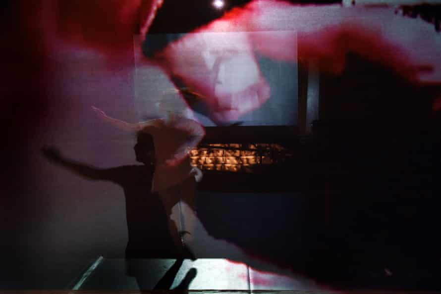 The multimedia performance in the Purcell Room.