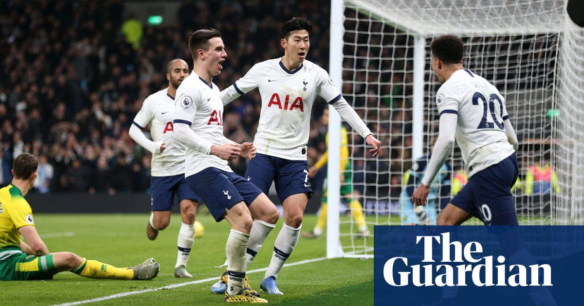 Tottenham's Son Heung-min quells unrest with late winner to deny Norwich