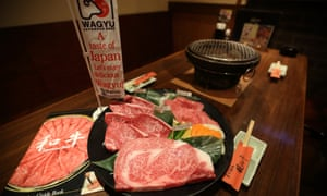 A dish of Wagyu beef steaks in a restaurant, operated by Meat Companion Co., in Tokyo, Japan, in March 2014
