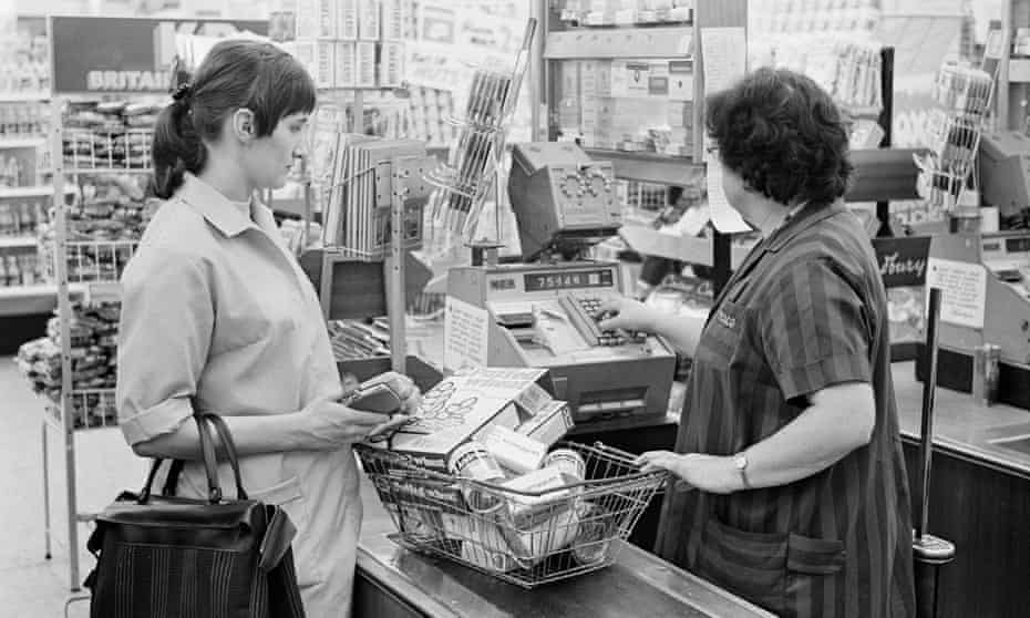Shopping at Tesco in 1969