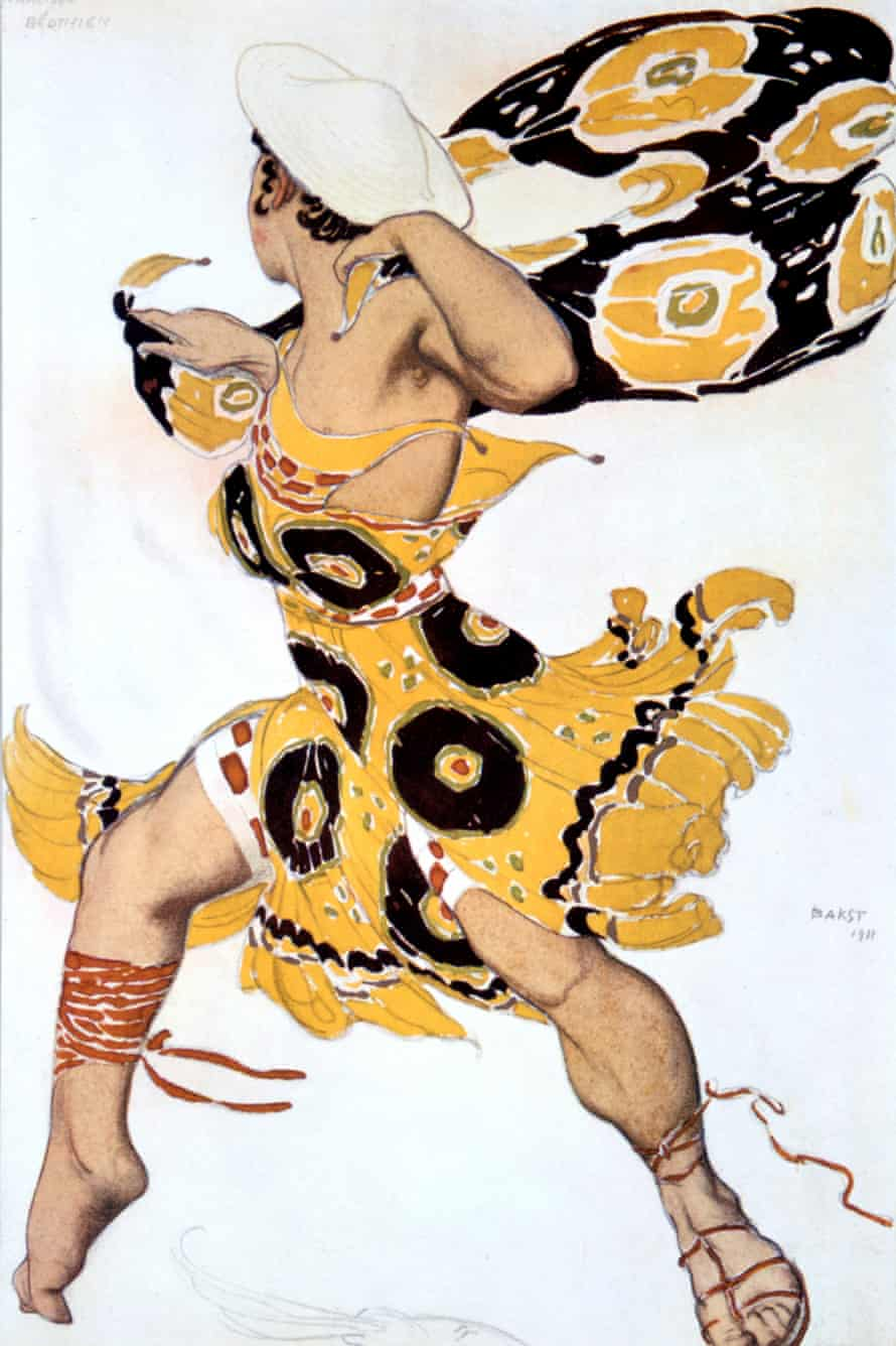 A costume design for a Ballets Russes production of Alexander Tcherepnin's Narcisse, 1911.