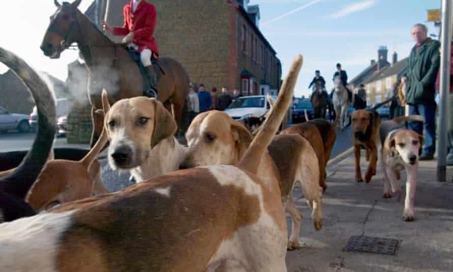 Blackmore & Sparkford Vale hunt Boxing Day meet in Castle Cary Somerset UK 27 Dec 2004.