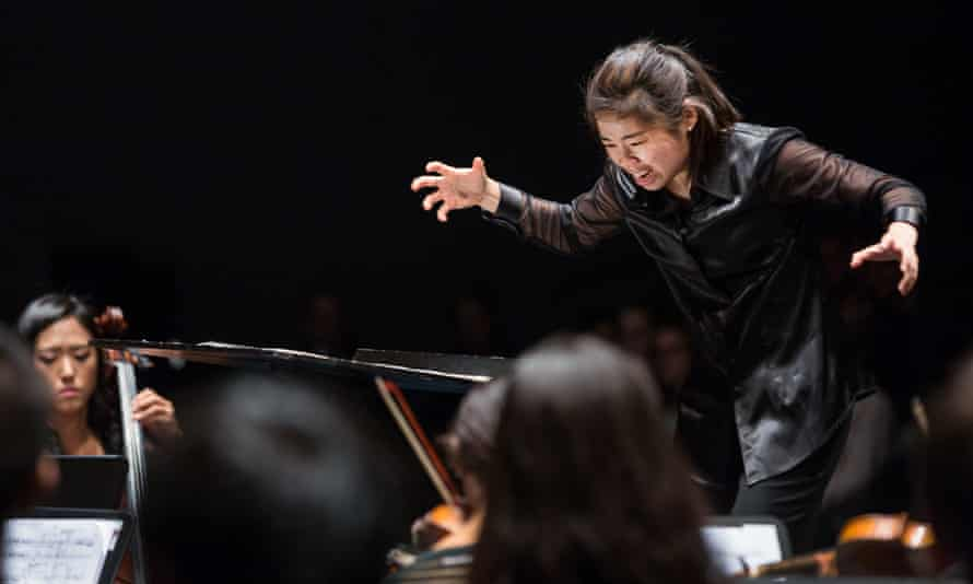 Elim Chan conducts at the Lucerne festival.