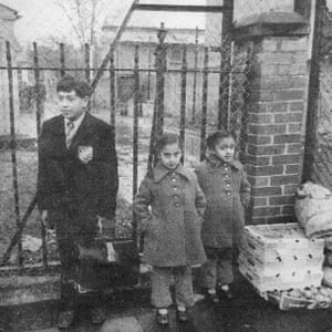 27 Southall children waiting to be bussed to school circa 1977