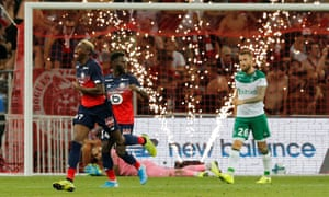Victor Osimhen has scored four goals in his first four Ligue 1 matches.