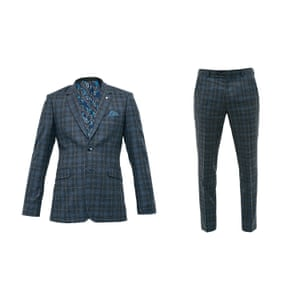 Blue check blazer and trousers from Ted Baker