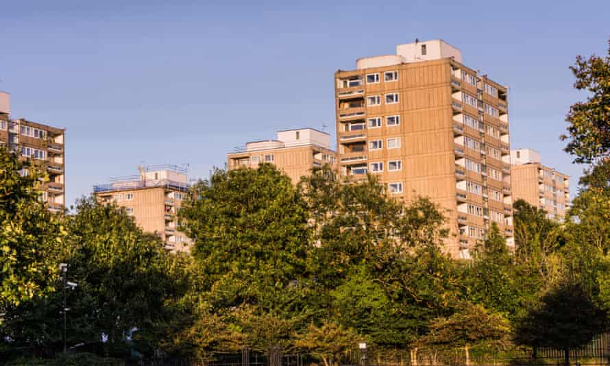 A housing estate in Roehampton, south-west London