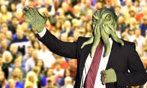 Cthulhu, pictured on the campaign trail.
