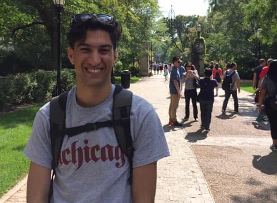 Hazim Avdal, 23, is now computer studies major at the University of Chicago.
