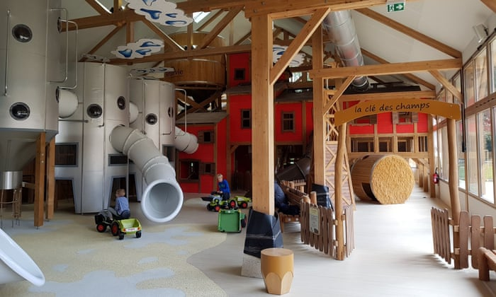 Kids' stuff: a farm-themed children's play area at Villages Nature.