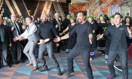 Welcoming ceremony at Te Papa museum in Wellington.