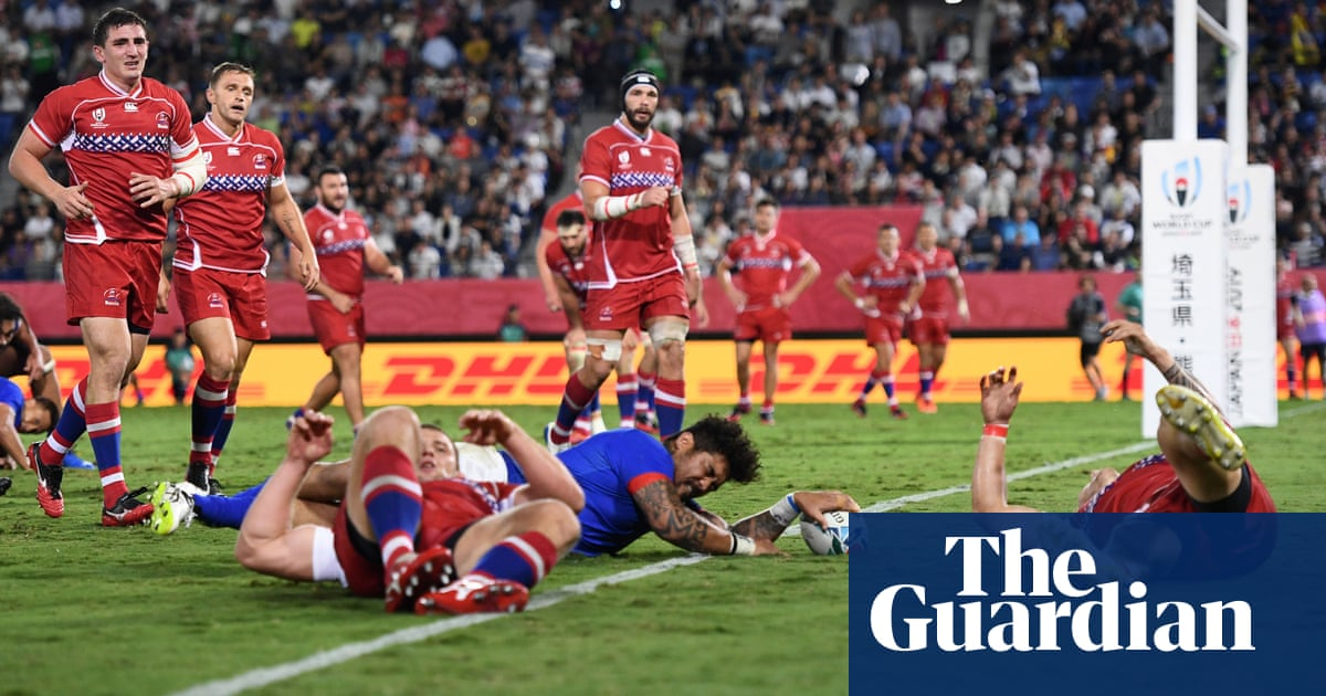 Samoa ease past battling Russia in bruising Rugby World Cup encounter