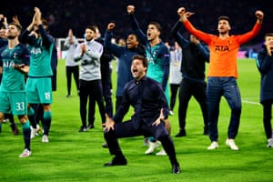 Pochettino's tears have dried as the celebrations continue