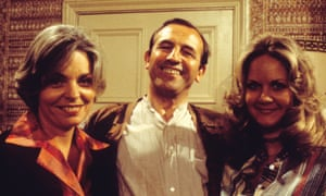 Pauline Yates, Leonard Rossiter and Sally-Jane Spencer in The Fall and Rise of Reginald Perrin.