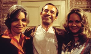 Pauline Yates, Leonard Rossiter, and Sally Jane Spencer in The Fall and Rise of Reginald Perrin.