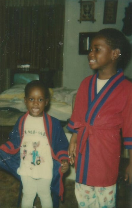 McCraney ( on right) pictured with his younger brother Jason Alvin at his grandmothers house christmas eve.