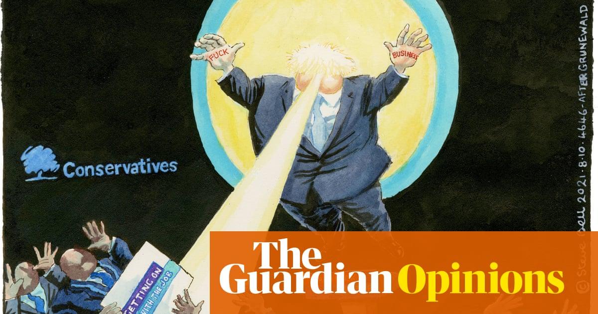 Steve Bell on Boris Johnson's conference performance – cartoon