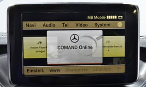 The onboard computer of a Mercedes-Benz B-class car