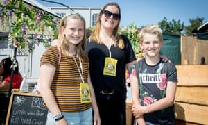Lucy, 13, Charlie, 10, and their mother Ilona from Dordrecht in Holland.