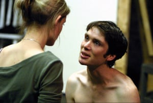 Anne-Marie Duff as Pegeen and Cillian Murphy as Christy in Playboy of the Western World by JM Synge, directed by Garry Hynes for the Druid theatre company in 2004.