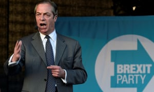 Nigel Farage speaking at an event during the European election campaign.