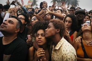 Rio de Janeiro, BrazilProtestors at a demonstration and concert calling for direct presidential elections. Michel Temer is mired in allegations that he endorsed bribery in a scandal which threatens to bring down his brief presidency.