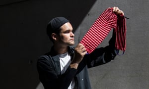 Ryan Yasin with his engineered fabric