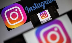 Instagram on the screen of a smartphone