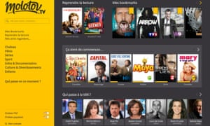 Molotov TV streaming platform: launched publicly in July.