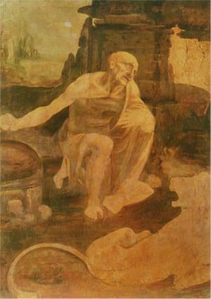 Saint Jerome Praying in the Wilderness, c. 1488-90 by Leonardo da Vinci