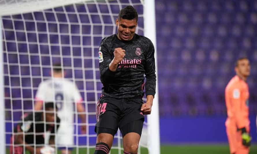 With Karim Benzema missing, the goalscoring burden has fallen on Casemiro.