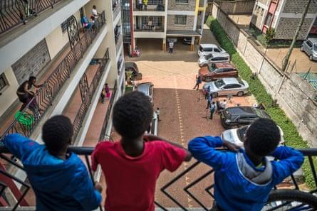 Worshipping from the balcony in Nairobi