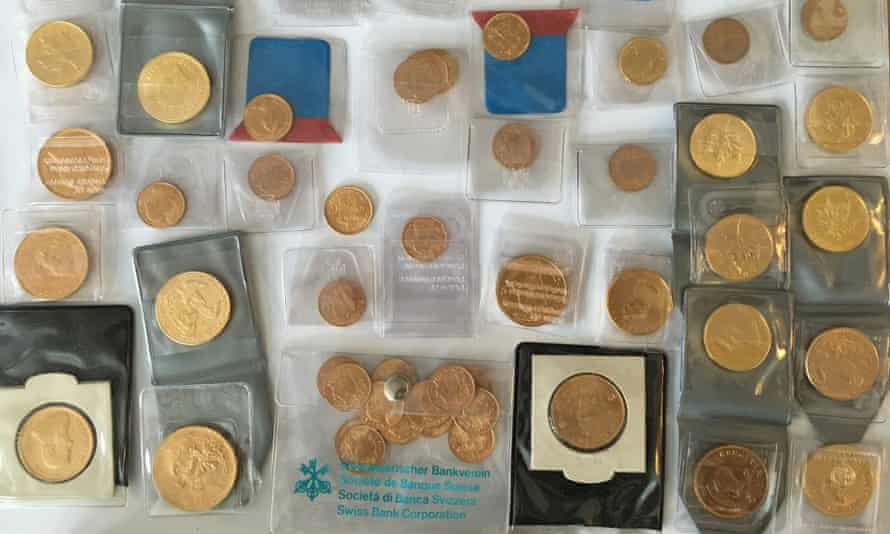 Gold coins also confiscated in the FOID raid.