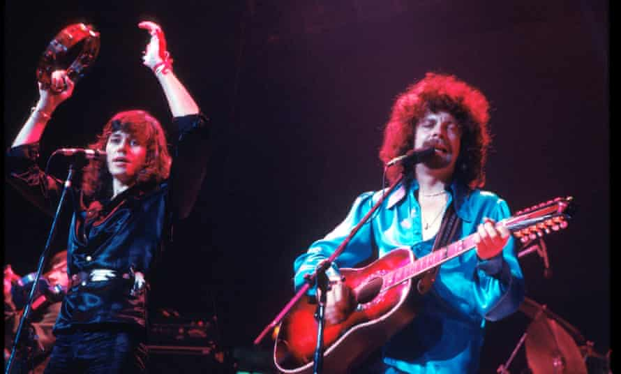 Strange magic … Bev Bevan and Jeff Lynne of Electric Light Orchestra perform in London in 1977.