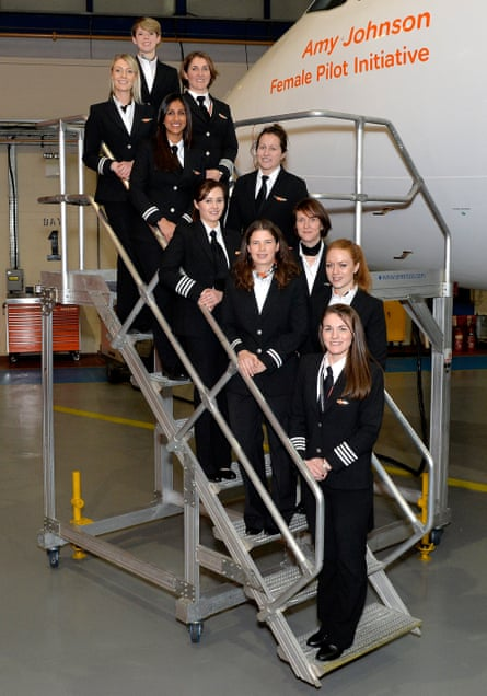 Trainee pilots on easyJet's Amy Johnson initiative.