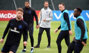 England in training on Wednesday.