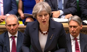 Theresa May addresses the House of Commons about the poisoning of Sergei Skripal.