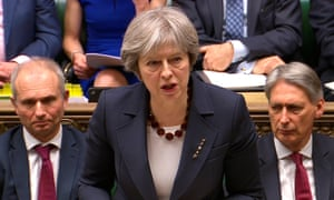 Theresa May addresses the Commons on 14 March 2018 on the poisoning of former Russian intelligence officer Sergei Skripal and his daughter Yulia in Salisbury