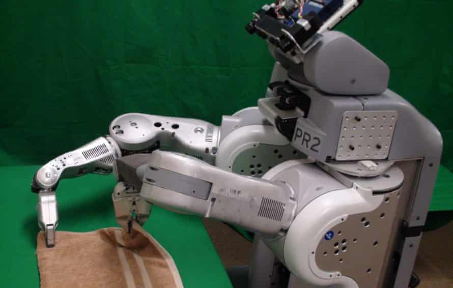 Domination seems a long way off … Brett the Robot, who features in The Future Starts Here.